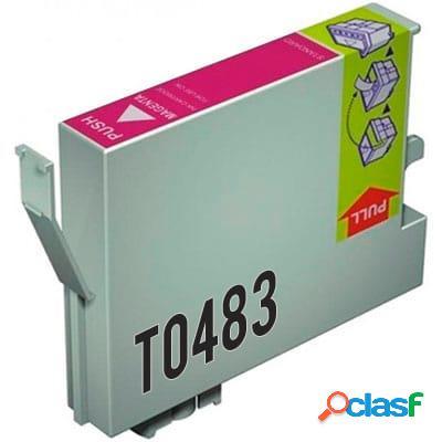 Cartucho de tinta compatible epson t0481, color negro, 17 ml