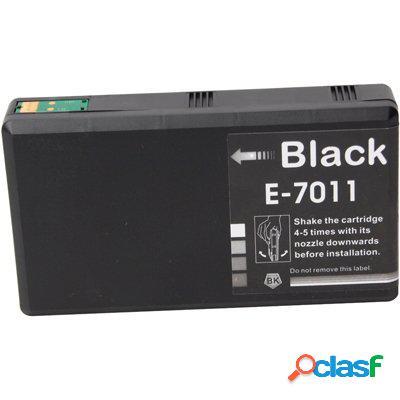 Cartucho de tinta compatible epson t7011, color negro, 70 ml