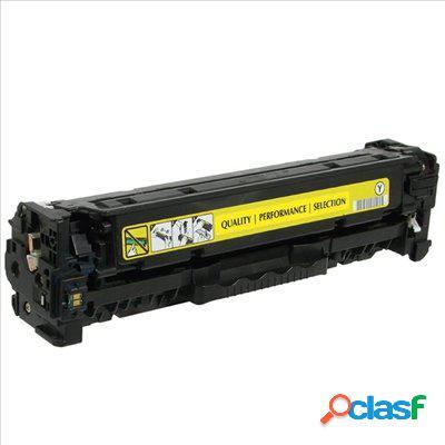 Tóner compatible hp cf412x, color amarillo, 5000 pag