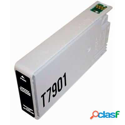 Cartucho de tinta compatible epson t7901, color negro, 42 ml