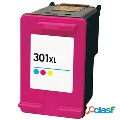 Cartucho de tinta compatible hp 301xl color, hp ch564ee tricolor, 18 ml
