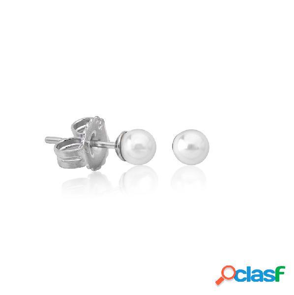 Pendientes de perla 4mm