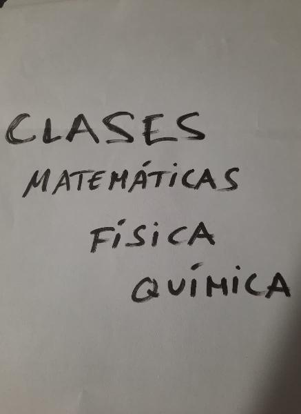 Clases matemáticas, química y física