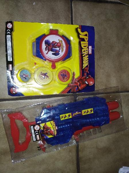 Lote juguetes spiderman ( sin abrir- envio gratis)