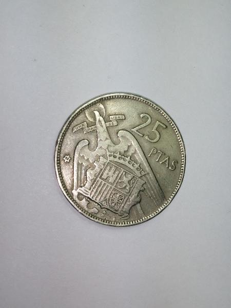 Moneda 25 pesetas 1957 estrella *61