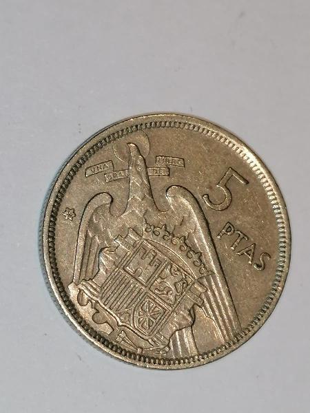 Moneda 5 pesetas 1957 estrella *58. buscada