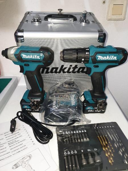 Pack taladro y atornillador makita 12v clx202mx1