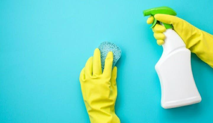 Mujer limpiadora española con referencias