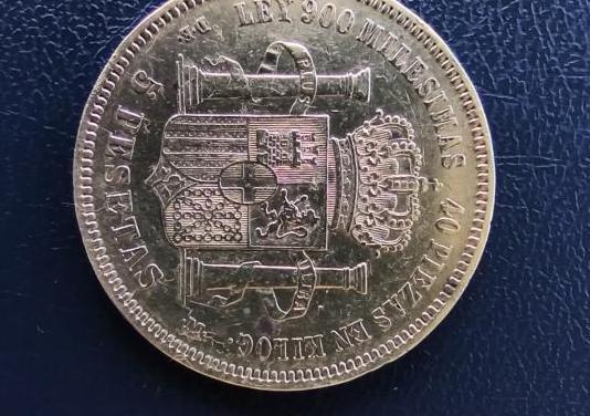 5 pesetas 1871*74 amadeo i