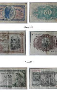 9 billetes españoles