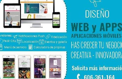 Diseño de página web y app