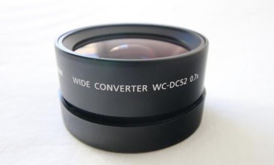 Lente canon gran angular wc-dc52