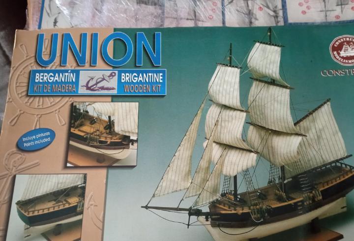 Maqueta barco madera union - constructo
