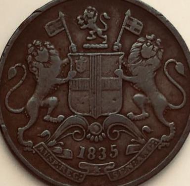 Moneda indias británicas orientales 1835