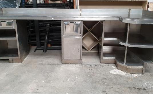 Mueble cafetero de acero inox 310 cm