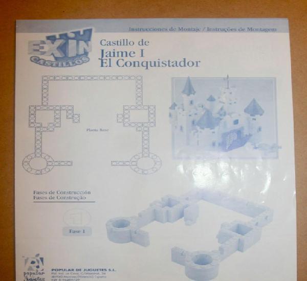 Oferta: instrucciones castillo: jaime i el conquistador.