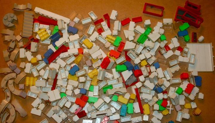 Oferta: lote de piezas de construcción antiguas de exin.