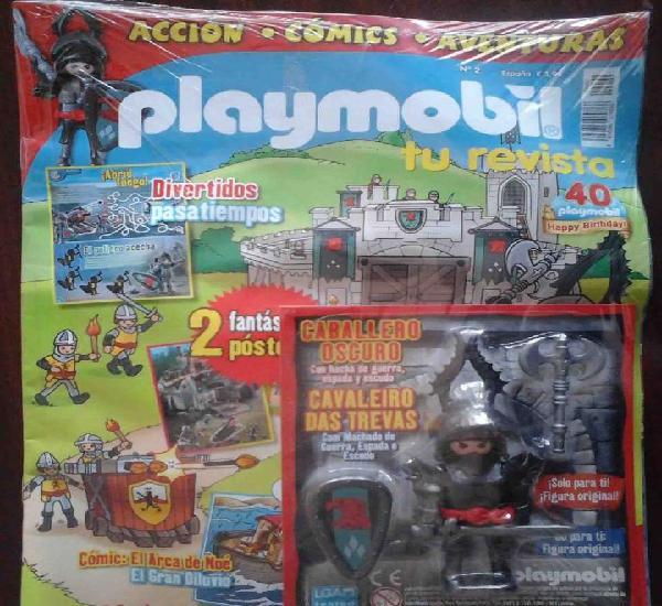 Precintado: revista playmobil nº 2 + figura exclusiva el