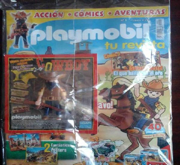 Precintado: revista playmobil nº 3 + figura exclusiva