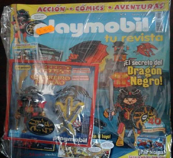 Precintado: revista playmobil nº 4 + figura exclusiva