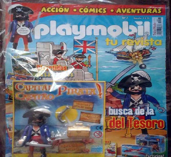 Precintado: revista playmobil nº 7 + figura exclusiva