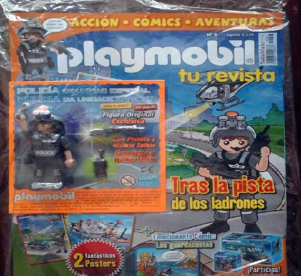 Precintado: revista playmobil nº 8 + figura exclusiva