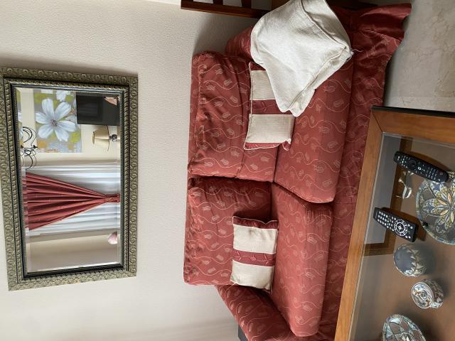 Sofá cama desfundable con dos fundas nuevas