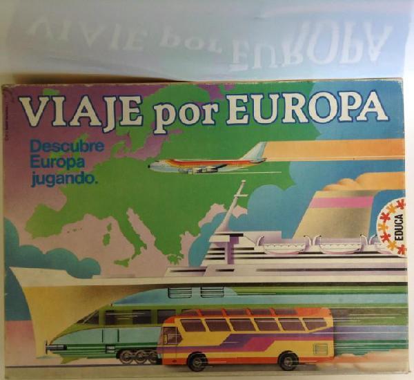 Viaje por europa: descubre europa jugando- año 1987 -