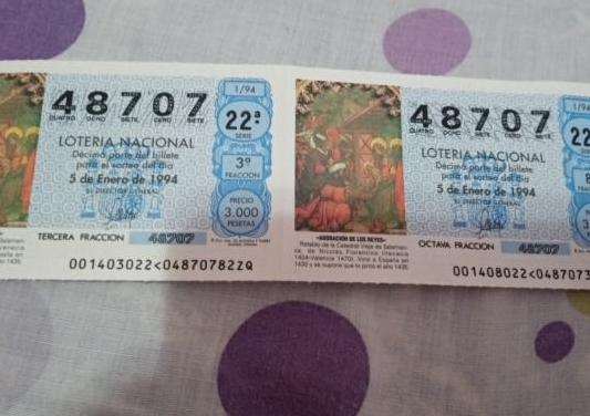 Número de lotería antiguo