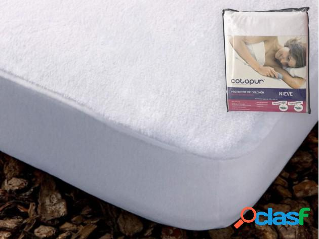 Protector colchón transpirable impermeable nieve 160