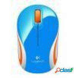 Logitech wireless mini mouse m187 azul