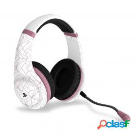 Auricular gaming 4gamers pro4-70 rosa gold/blanco licenciado ps4