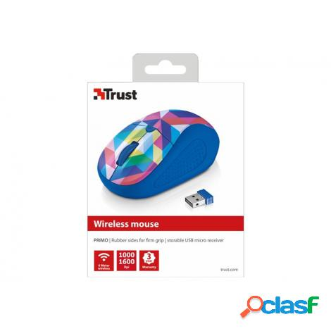 Mouse trust wireless primo blue geometry