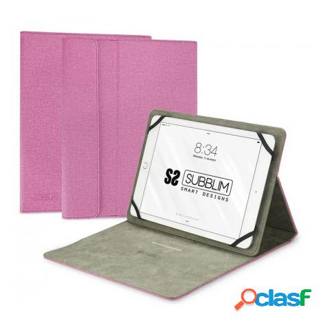 "Funda tablet subblim clever stand case 10.1"" pink"