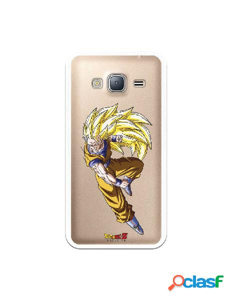 Funda para samsung galaxy j3 2016 oficial de dragon ball goku super saiyan 3 - dragon ball