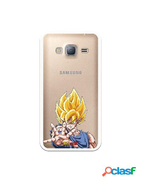 Funda para samsung galaxy j3 2016 oficial de dragon ball goku super saiyan - dragon ball