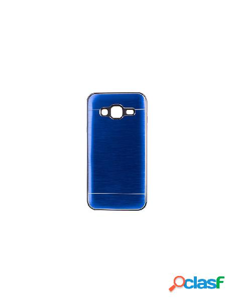 Funda metalizada doble azul samsung galaxy j3 2016
