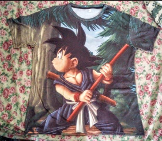 Camiseta bola dragon sintética goku talla xl