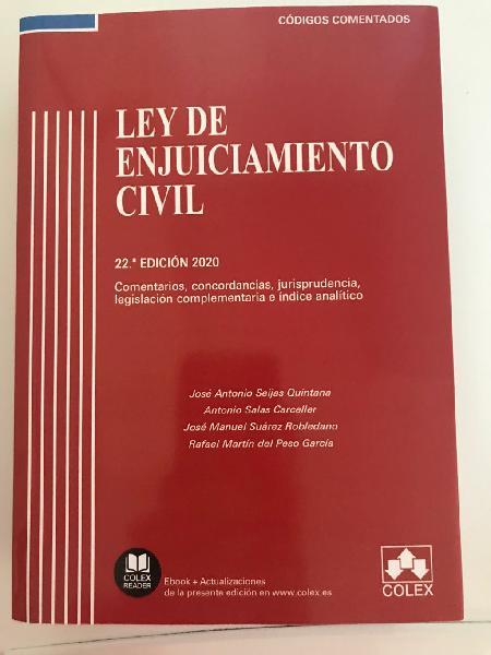 Ley enjuiciamiento civil ultima edición 2020