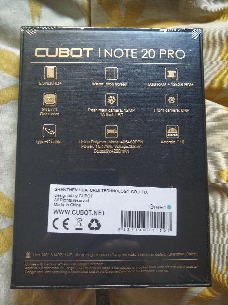 Nuevo precintado - cubot note 20 pro, 6gb ram, 128