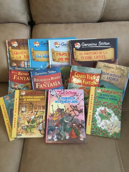 Pack 12 libros grandes gerónimo stilton
