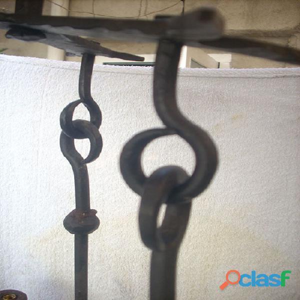 Lámpara de forja artística rustica 3