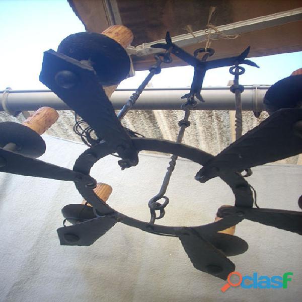 Lámpara de forja artística rustica 5