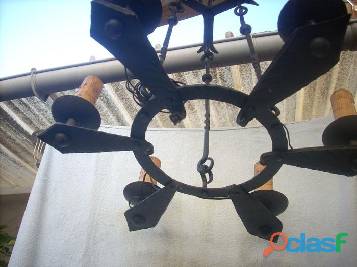 Lámpara de forja artística rustica 6