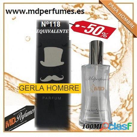 Oferta Perfume Hombre Nº118 GERLA HOMBRE Alta Gama 100ml 10€ 5