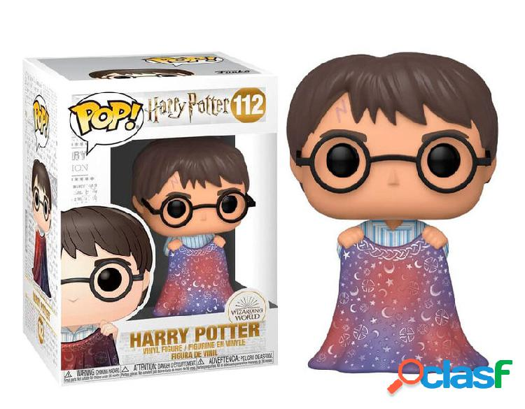 Figura funko pop harry potter con capa de invisibilidad