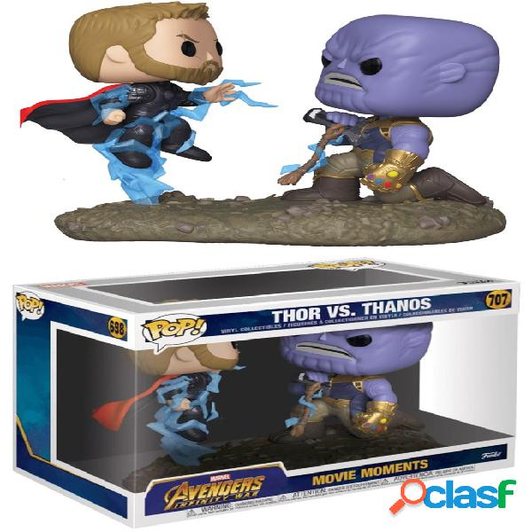 Pack figuras funko pop thor & thanos infinity war