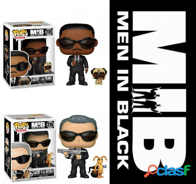 Pack figuras funko pop men in black agente j y agente k.