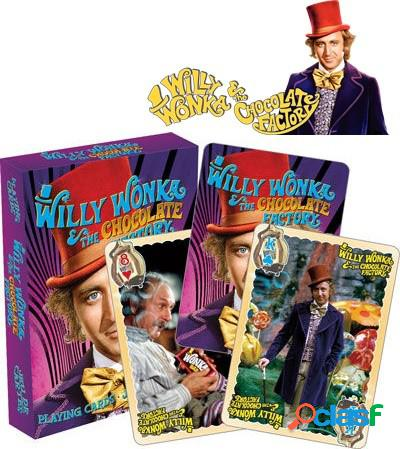 Baraja de cartas de poker la fabrica de chocolate willy wonka