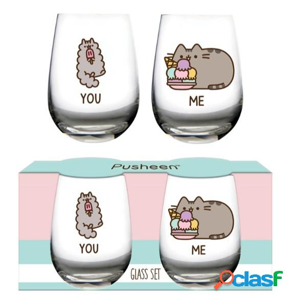 Pack 2 vasos pusheen